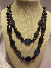 Economical Black Wooden Necklace with Shell Accent Beads-Choose Style
