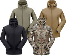 MENS TACTICAL MILITARY HEAVY FLEECE Soft Shell Hoodie JACKET Airsoft Outwear