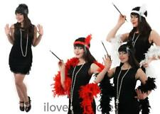 WOMENS FRINGE FLAPPER FANCY DRESS 1920S CHARLESTON ADULT COSTUME ADD ACCESSORIES