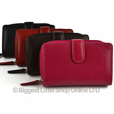 New Ladies Medium Leather Purse / Wallet by Visconti Gift Boxed 4 Colours GIFT