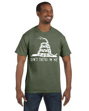 Dont Tread on Me Tee Shirt  Gadsen Flag Tea Party Military Navy Army NRA