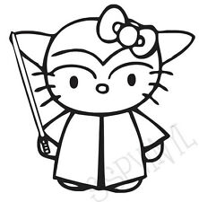 STAR WARS Hello Kitty Funny Decal Sticker