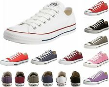 MENS WOMENS CONVERSE CT All STAR OX  CANVAS TRAINERS TEN 10 COLOURS UK 3-12
