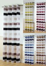 STIRLING RING TOP /EYELET TOP PLAIN STRIPE VOILE CURTAIN PANEL USE CURTAIN POLES