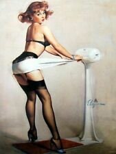Vintage Pin-Up Girl Gil Elvgren Weighty Problem Art Print A4 A3 A2 A1