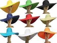 Women's Natural straw floppy wide brim Summer sun Beach hat ladies derby cap