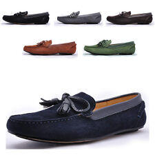 Leather Casual Slip On tassel Driving Loafer fashion mens boat shoes  [JG]