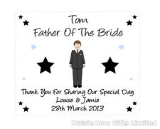 Personalised Father Of Bride Groom Wedding Gift Favour Glasses Cleaning Cloth