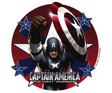 Captain America Edible Cupcake Toppers Decoration - Set of 12 Toppers
