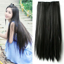 Long Straight Hair One piece 5 clips in hair extensions Full head top 5 Colors