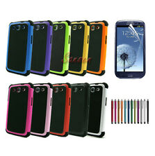 Hybrid Dual Layer Hard Case Cover for Samsung Galaxy S3 S 3 S III i9300+Pen+Film