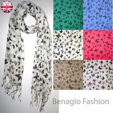 Butterfly Print Large Scarf Ladies Womens New Fashion Soft Light Weight ON SALE