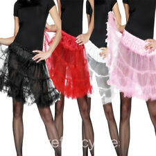 LADIES UNDERSKIRT PETTICOAT RED BLACK WHITE PINK TUTU DANCE FANCY DRESS SKIRT