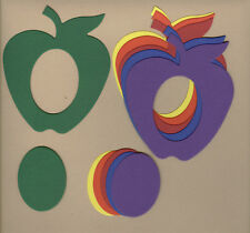 Your choice of colors on Picture Frames-Apple Die Cuts - AccuCut
