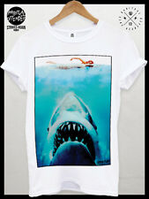 Mens Retro Vintage Tshirt poster  Surf Top Board Quick Skate Punk Jaws Brand
