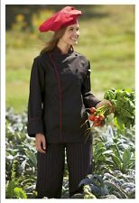 Exec Chef Coats, Cloth Covered Buttons, Color Options with Colored Piping-432