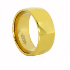 18K Gold IP Tungsten Carbide 12MM Polished Dome Ring Comfort Fit