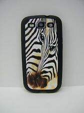 Samsung Galaxy S3 i9300 Cell Phone Rubber Case ~ Zebra Love image