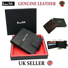 Real Genuine Leather Mens Wallet Designer Buono Pelle High Quality Card Gift Box