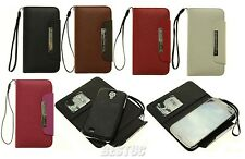 2 in 1 Samsung Galaxy S4 i9500 Flip Wallet Leather Card Hard Case Cover Pouch