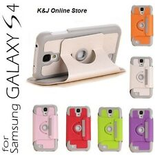 Smart Leather Flip Case With 360 Stand for Samsung Galaxy S4 S IV GT- I9500