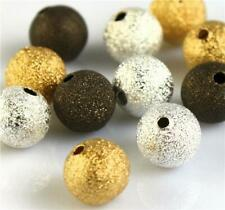 TOP QUALITY BRASS STARDUST BEADS SPACER COLOUR CHOICE 4mm 6mm 8mm 10mm