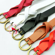 5 Color Twining Knot Women Lady Girl Accessory PU Leather Belt Buckle LDY-BLT-K