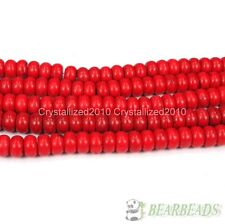 Red Turquoise Gemstone Rondelle Spacer Beads 16'' Pick 4mm 6mm 8mm 10mm 12mm
