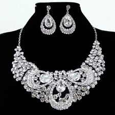 Hot Style Necklace Earring Set Choker Dangle Pendant Lady Jewelry Set For Party