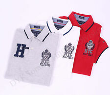 Tommy Hilfiger Men Logo Pique Mesh Pieced Polo Shirt Custom Fit - Free $0 Ship