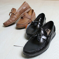 New Mooda Tassel Mens Casual Dress Loafers Slip on Leather Boat Shoes