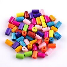 Random Mixed Tube Wood Spacer Loose Beads Charms Findings Accessories Any Size