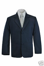 Boy Toddler Formal Wedding Party Church Navy Blazer Style Jacket Coat Baby to 4T