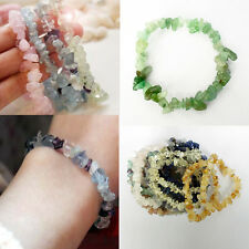 Fashion Natural Gemstone Crystal Quartz Chip Beads Agate Stretchy Bracelet