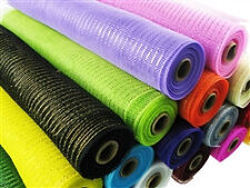 """21"""" Metallic  Mesh / Deco Floral Fabric  10 Yard Roll  - 18 DIFFERENT COLORS!!"""