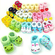 Cute Newborn Baby Unisex Indoor Anti-slip Warm Socks Animal Cartoon Shoes Boots