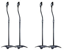 4 (2 PAIR) UNIVERSAL SURROUND SOUND SATELITE SPEAKER STANDS  HOME THEATER AUDIO