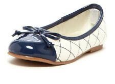 New L'Amour Girls N412 Cream Quilted Ballet Flats
