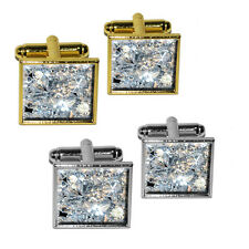 Loose Diamonds (Image Only) Square Cufflink Set