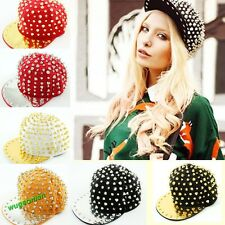 Hedgehog Punk Hip-hop Hot Rock Hat Gold Rivets Spikes Spiky Studded Baseball Cap