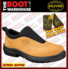Oliver Work Boots, 34615, Steel Toe Safety, Wheat Slip-On Sports Shoe. Brand New