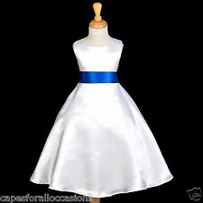 NEW PAGEANT CHRISTMAS PARTY FORMAL A-LINE FLOWER GIRL DRESS 18M 2 4 6 8 10 12 14
