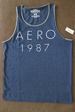 Aeropostale Men Aero Navy blue 1987 Tank Top