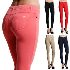 MOGAN Soild STRETCH SKINNY PANTS Slim Ankle Colored Jeggings Zip Fly Leggings