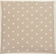 Clarke and Clarke Taupe and White Spot Polka Dot Spotty Cushion Cover