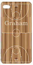 Personalized Custom iphone case 4 5 any text Basketball court ball cover Gift