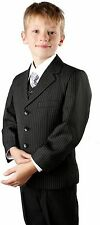 Boys Suit Black Pinstripe Jasper Quality Tailored Formal Wear Size 1-13 Years