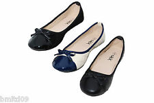 New Beige Black Quilted Faux Suede Blue Patent Toe Flat Ballet Dolly Shoes Pumps