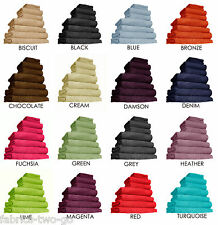 Chatsworth 100% Egyptian Cotton Bathroom Towels Super Soft 600gsm many Colours