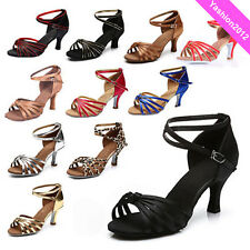 Brand New Women's Ballroom Latin Tango Dance Shoes heeled Salsa 9 Colors 217-S